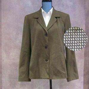 Rafaella Brown Check Blazer Size 14
